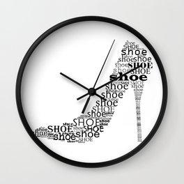 Typographic Shoe Wall Clock