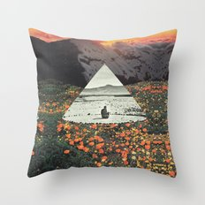 Harmony with flowers Throw Pillow