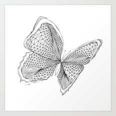 Angles of a Butterfly Art Print
