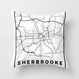 Sherbrooke Light City Map Throw Pillow