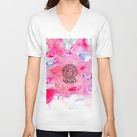 versace V-neck T-shirts featuring Versace Medusa  by  Can Encin