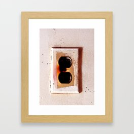 Plug Framed Art Print