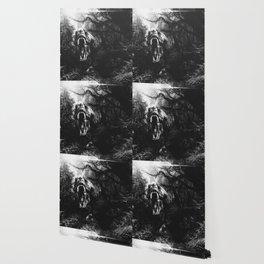 Black and white Jurassic period Wallpaper
