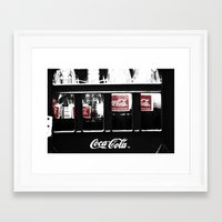 coca cola Framed Art Prints featuring coca cola by Crimson Crazed