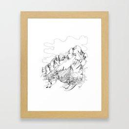 Mount Dunkirk - Single Line Framed Art Print