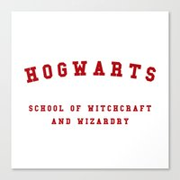 hogwarts Canvas Prints featuring Hogwarts by Fabian Bross