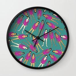 Pink Little Dancers Wall Clock
