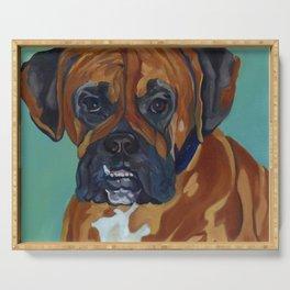 Boxer Dog Pet Portrait Serving Tray
