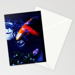 Koi Fish play coy Stationery Cards
