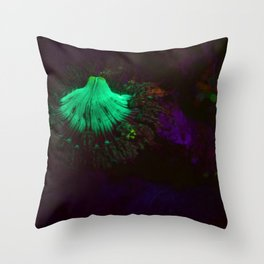 Volcano of fluorescent anemone Throw Pillow