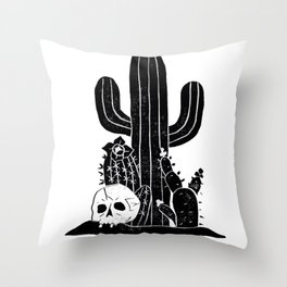Valley Cactus V2 Throw Pillow