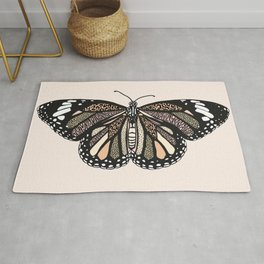 animal print butterfly Rug
