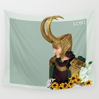 loki Wall Tapestries featuring Loki by tsunami-sand