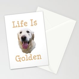 Golden Retriever Gift Life is Golden Retriever Dog Doggy Present Stationery Cards
