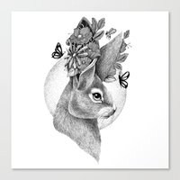 hare Canvas Prints featuring HARE by Thiago Bianchini