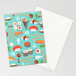 Happy Sushi Stationery Cards