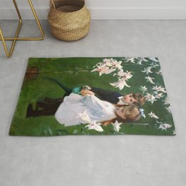"John Singer Sargent ""Garden Study of the Vickers Children"" Rug"