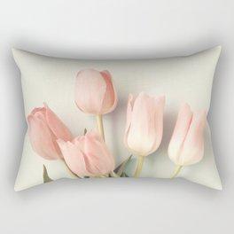 Blush coral tulips Rectangular Pillow