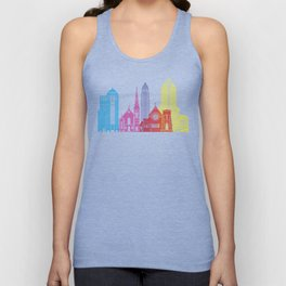 Charlotte skyline pop Unisex Tank Top