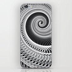 Black And White Skeletal Shell  iPhone & iPod Skin