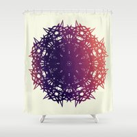 teeth Shower Curtains featuring Teeth by EmemArts