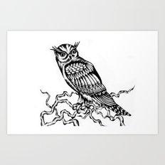 Owl Drawing July 2015 Art Print