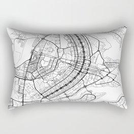 Brasilia Map White Rectangular Pillow