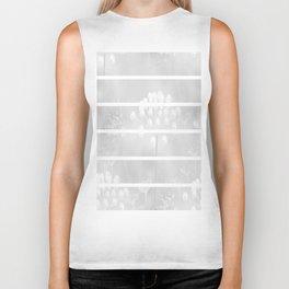 White Plant On A Grey Background #decor #society6 Biker Tank