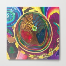 The Cosmic Owl pt. 2 Metal Print