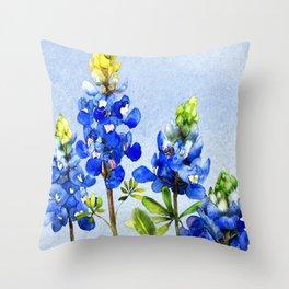 Bluebonnets 1 Throw Pillow