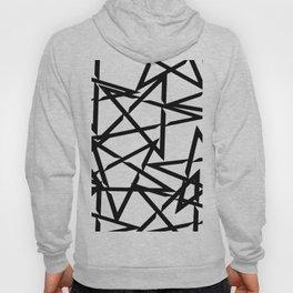 Interlocking Black Star Polygon Shape Design Hoody