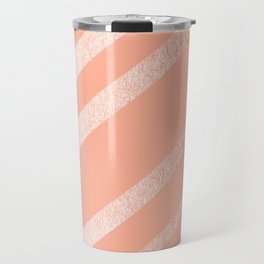 Sweet Life Swipes Peach Coral Shimmer Travel Mug