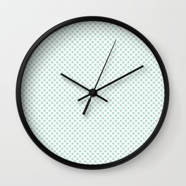 Honeydew Polka Dots Wall Clock