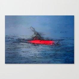Wilderness Kayaker Canvas Print
