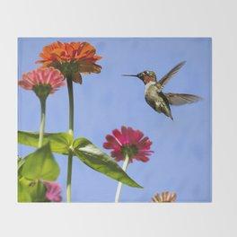 Hummingbird Happiness Throw Blanket