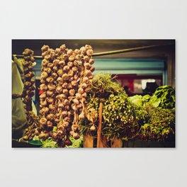 Market goods Canvas Print