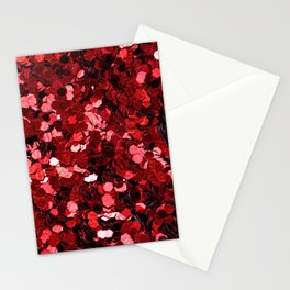 Red Sequins Stationery Cards