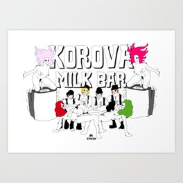 KOROVA MILK BAR Art Print