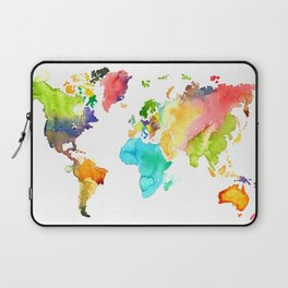 Watercolor World Laptop Sleeve