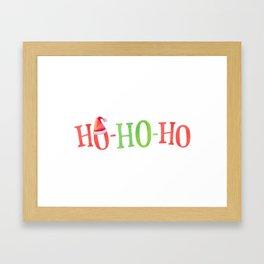 HO HO HO Christmas Elements Design Framed Art Print