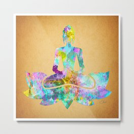 Buddha Watercolor Metal Print