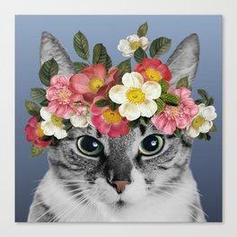 Hippie Cat 1 Canvas Print