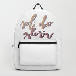 Soli Deo Gloria Backpack