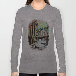 Waterfall in the Forest Long Sleeve T-shirt