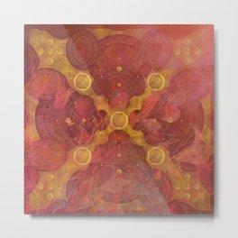 """""""Rose Gold Mandala Deluxe"""" Metal Print"""