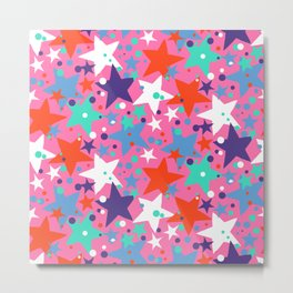 Fun ditsy print with constellations and twinkle lights Metal Print