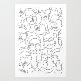 Crowded Girls Art Print