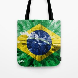 Extruded flag of Brazil Tote Bag