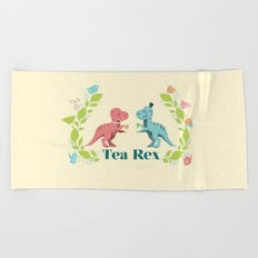 Tea Rex Beach Towel