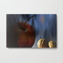 Concept Halloween : Apple and nuts Metal Print